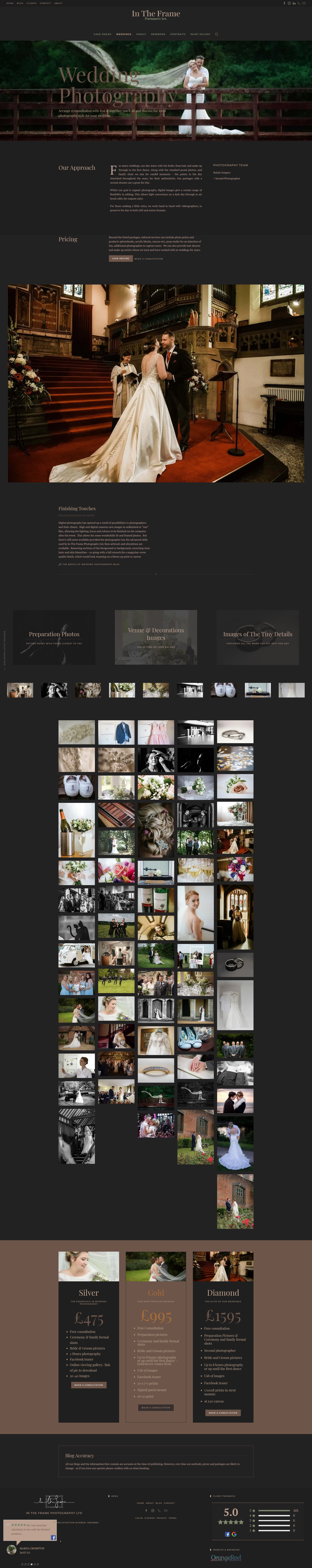 In The Frame Photography Ltd Website